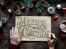 Xmas Calligraphy 1st Dec